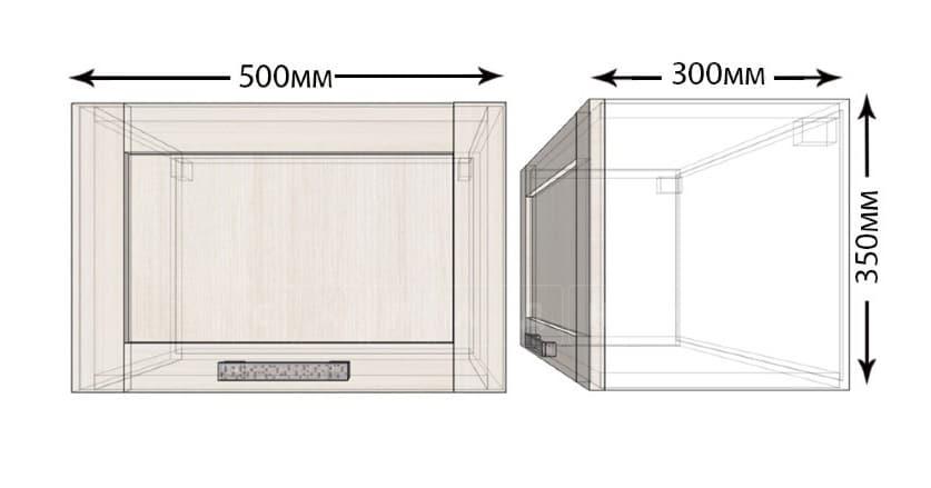 Кухонный навесной шкаф над плитой под вытяжку Лофт ШВГ50 фото 1 | интернет-магазин Складно