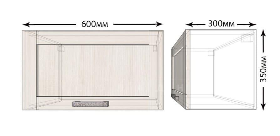 Кухонный навесной шкаф над плитой под вытяжку Лофт ШВГ60 фото 1 | интернет-магазин Складно