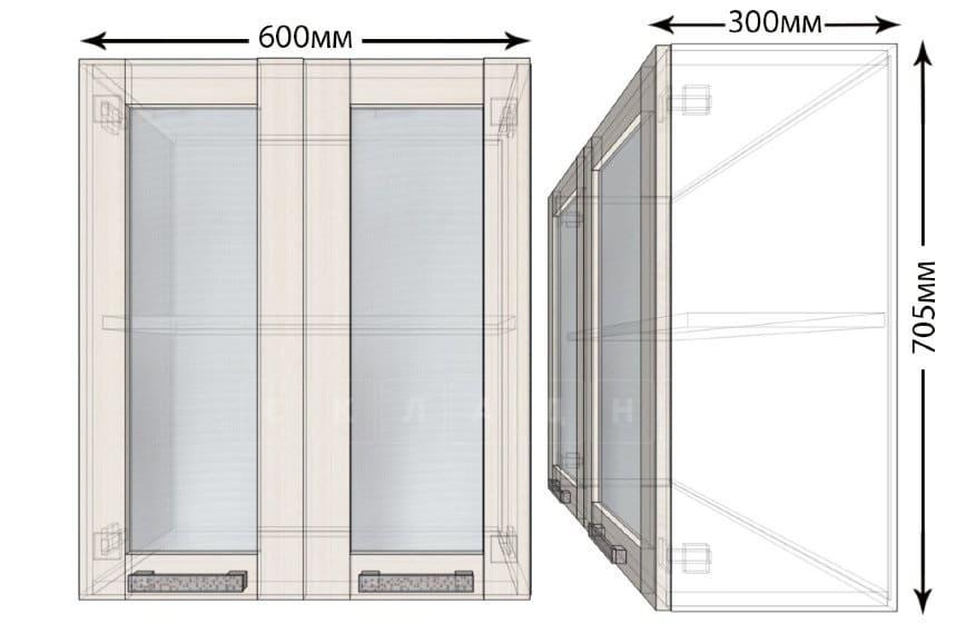 Кухонный навесной шкаф со стеклом Лофт ШВС60 фото 1 | интернет-магазин Складно