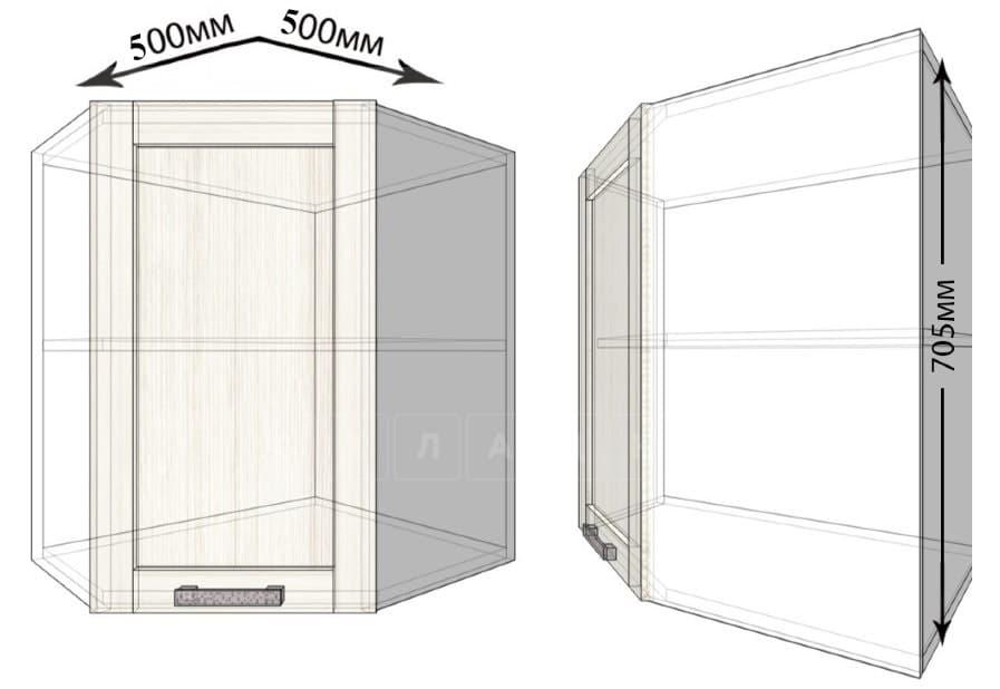 Кухонный навесной шкаф угловой Лофт ШВУ50 фото 1 | интернет-магазин Складно