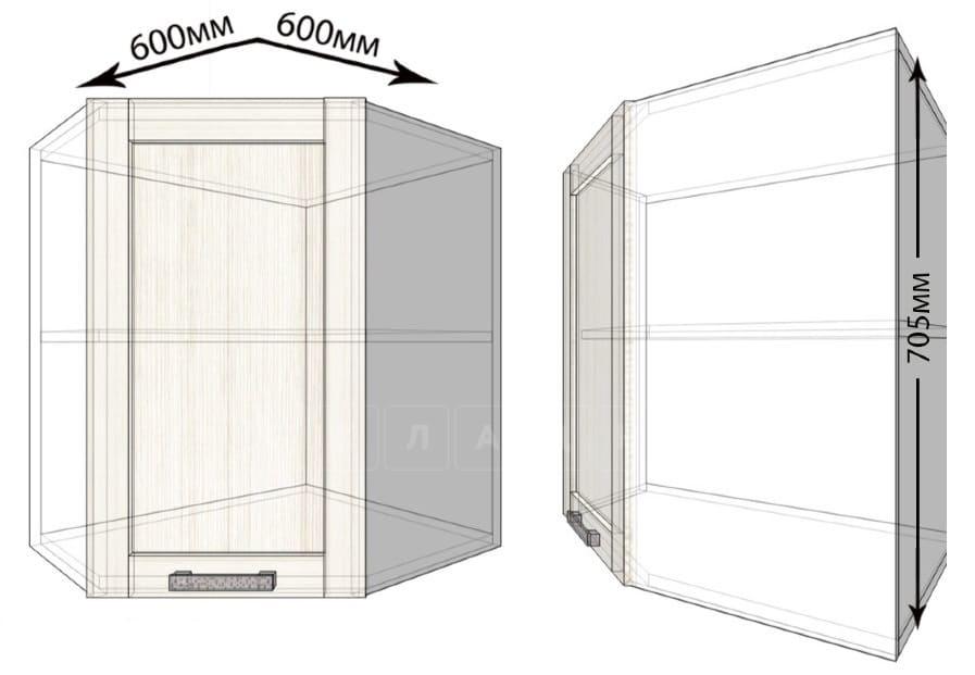 Кухонный навесной шкаф угловой Лофт ШВУ60 фото 1   интернет-магазин Складно