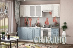 Кухонный гарнитур Милана 2,4 м с газовкой  23930  рублей, фото 1 | интернет-магазин Складно