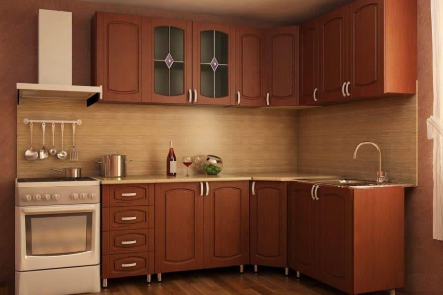 Кухня угловая Кариба 2,0х1,6м итальянский орех фото | интернет-магазин Складно