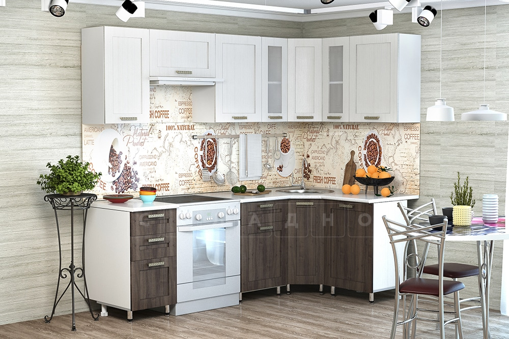 Кухня угловая Лофт 2,3х1,3 м фото 1 | интернет-магазин Складно