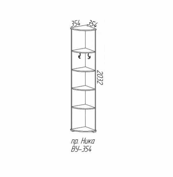 Прихожая угловая Ника-6 лдсп 2,21х1,56м фото 6 | интернет-магазин Складно