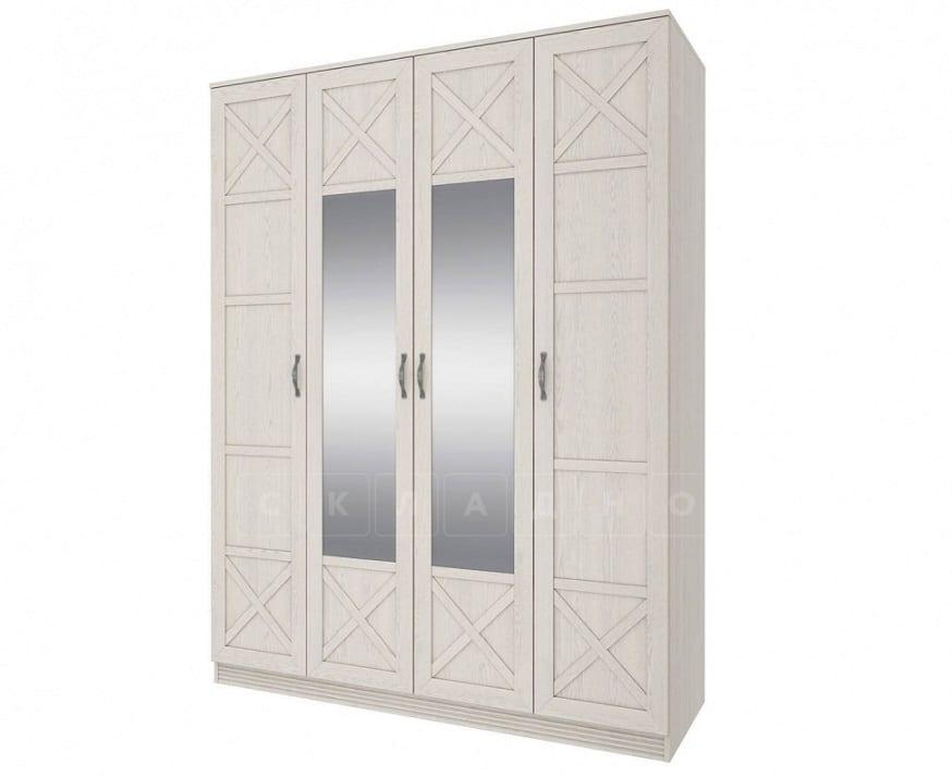 Шкаф четырехдверный с зеркалом Лозанна фото 1 | интернет-магазин Складно