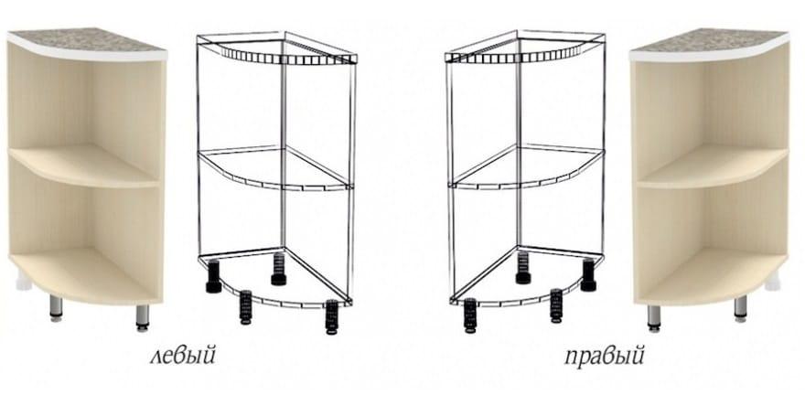 Кухонный шкаф напольный торцевой открытый Лофт ШНПУ30 фото 1 | интернет-магазин Складно