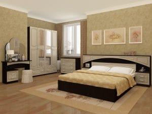 Спальный гарнитур Камелия МДФ 52570 рублей, фото 2   интернет-магазин Складно