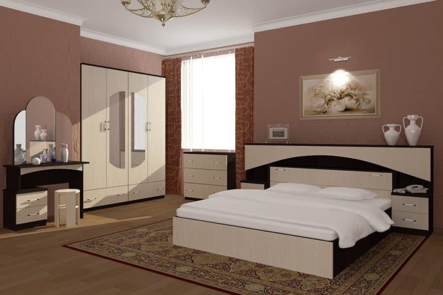 Спальный гарнитур Камелия ЛДСП фото | интернет-магазин Складно