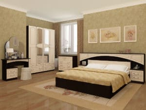 Спальный гарнитур Камелия МДФ  52570  рублей, фото 1   интернет-магазин Складно