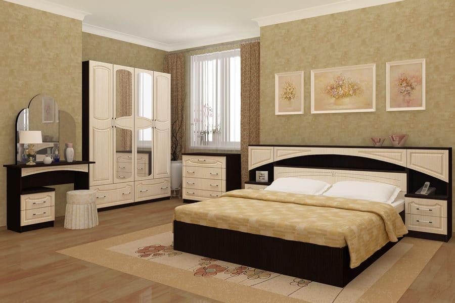 Спальный гарнитур Камелия МДФ фото   интернет-магазин Складно