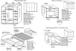 Спальный гарнитур Венеция 49950 рублей, фото 2   интернет-магазин Складно