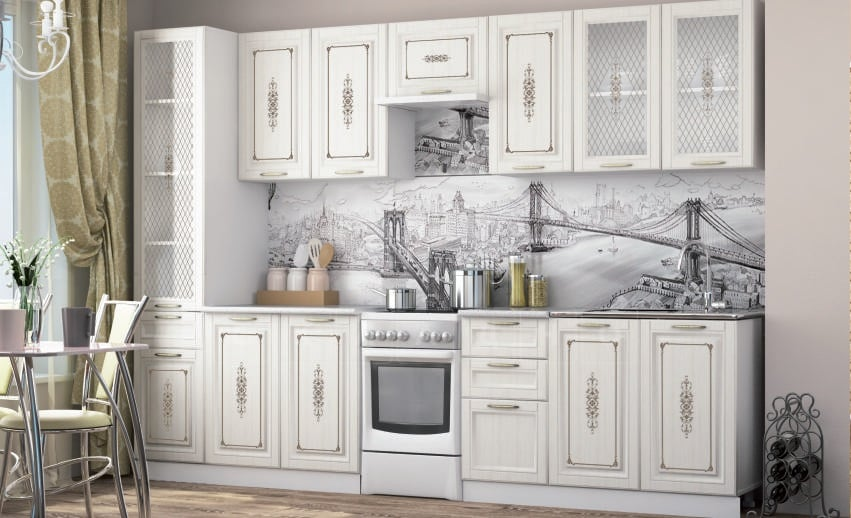 Кухонный гарнитур Гинза сандал 3,0м фото 1 | интернет-магазин Складно