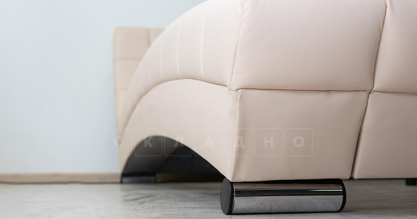 Мягкая кровать Оливия 160 см экокожа бежевый фото 8 | интернет-магазин Складно