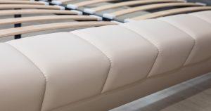 Мягкая кровать Оливия 160 см экокожа бежевый 19990 рублей, фото 9 | интернет-магазин Складно