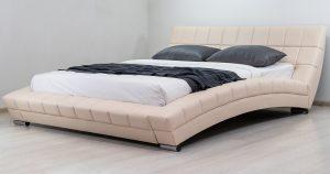 Мягкая кровать Оливия 160 см экокожа бежевый 19990 рублей, фото 12 | интернет-магазин Складно
