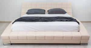 Мягкая кровать Оливия 160 см экокожа бежевый 19990 рублей, фото 13 | интернет-магазин Складно