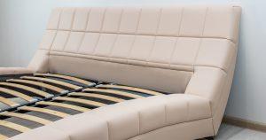 Мягкая кровать Оливия 160 см экокожа бежевый 19990 рублей, фото 5 | интернет-магазин Складно