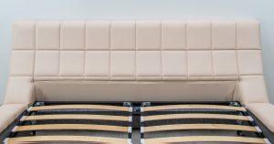 Мягкая кровать Оливия 160 см экокожа бежевый 29880 рублей, фото 6   интернет-магазин Складно