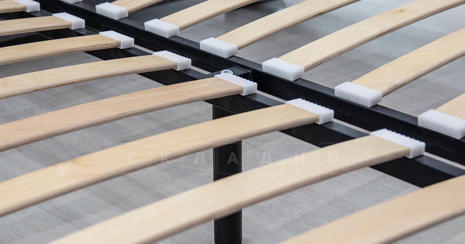 Мягкая кровать Оливия 160 см экокожа бежевый фото 15 | интернет-магазин Складно
