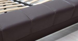 Мягкая кровать Оливия 160 см экокожа шоколад 19990 рублей, фото 13 | интернет-магазин Складно