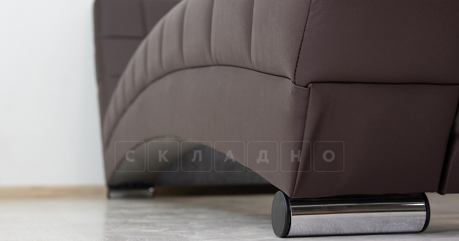 Мягкая кровать Оливия 160 см экокожа шоколад фото 12 | интернет-магазин Складно