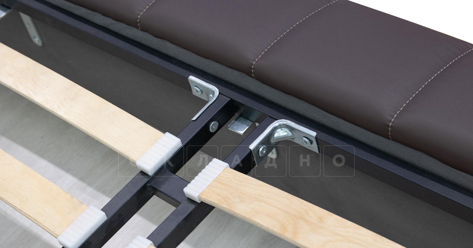 Мягкая кровать Оливия 160 см экокожа шоколад фото 15 | интернет-магазин Складно