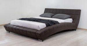 Мягкая кровать Оливия 160 см экокожа шоколад 19990 рублей, фото 4 | интернет-магазин Складно