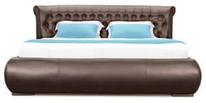 Мягкая кровать Вирджиния 160см экокожа шоколадного цвета 29950 рублей, фото 2   интернет-магазин Складно