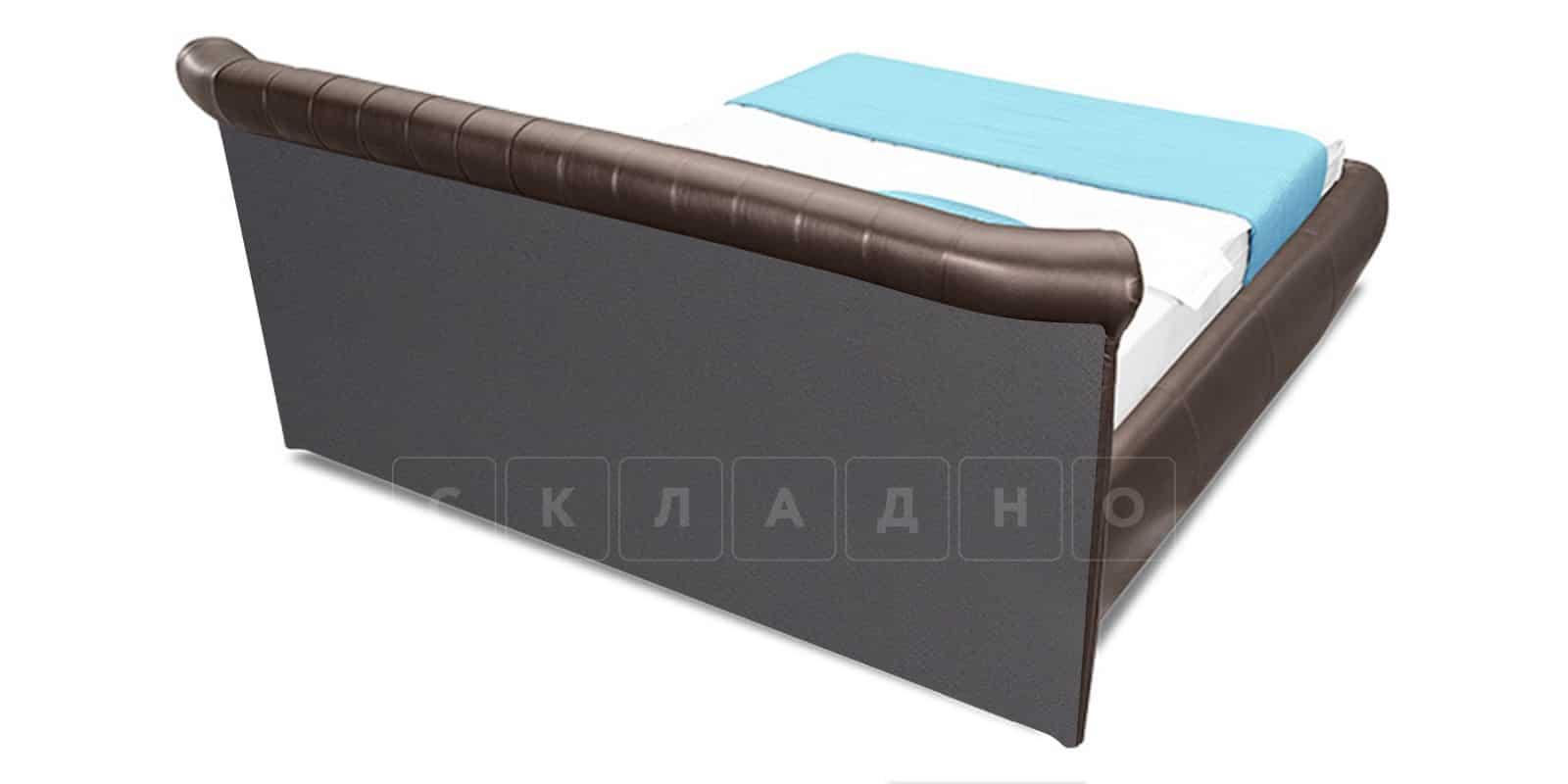 Мягкая кровать Вирджиния 160см экокожа шоколадного цвета фото 3   интернет-магазин Складно