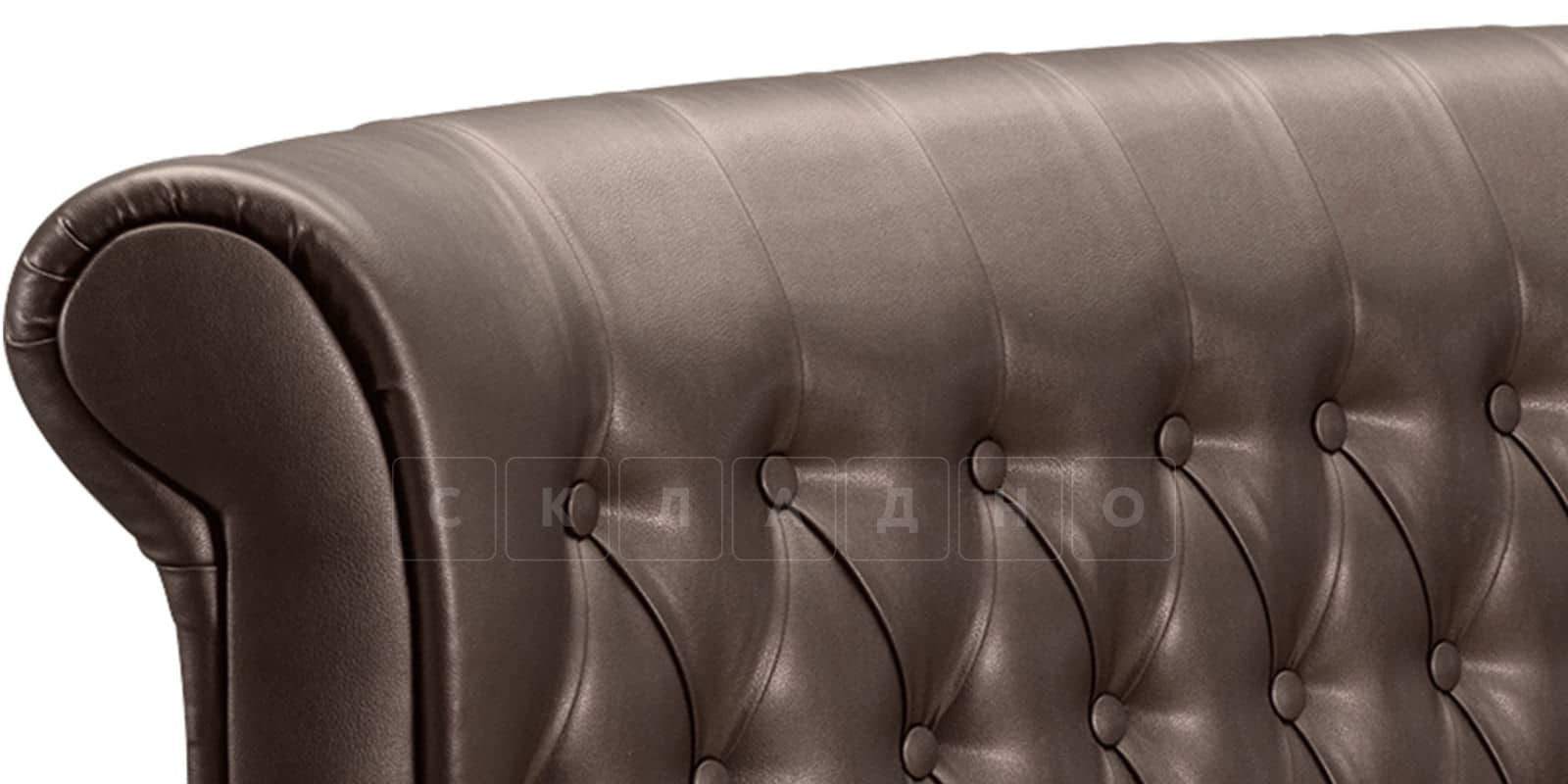 Мягкая кровать Вирджиния 160см экокожа шоколадного цвета фото 5   интернет-магазин Складно