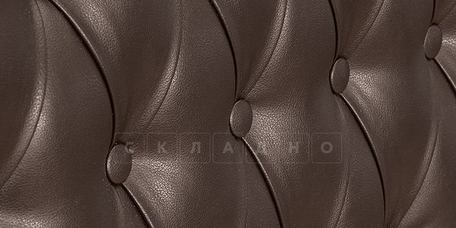 Мягкая кровать Вирджиния 160см экокожа шоколадного цвета фото 7 | интернет-магазин Складно