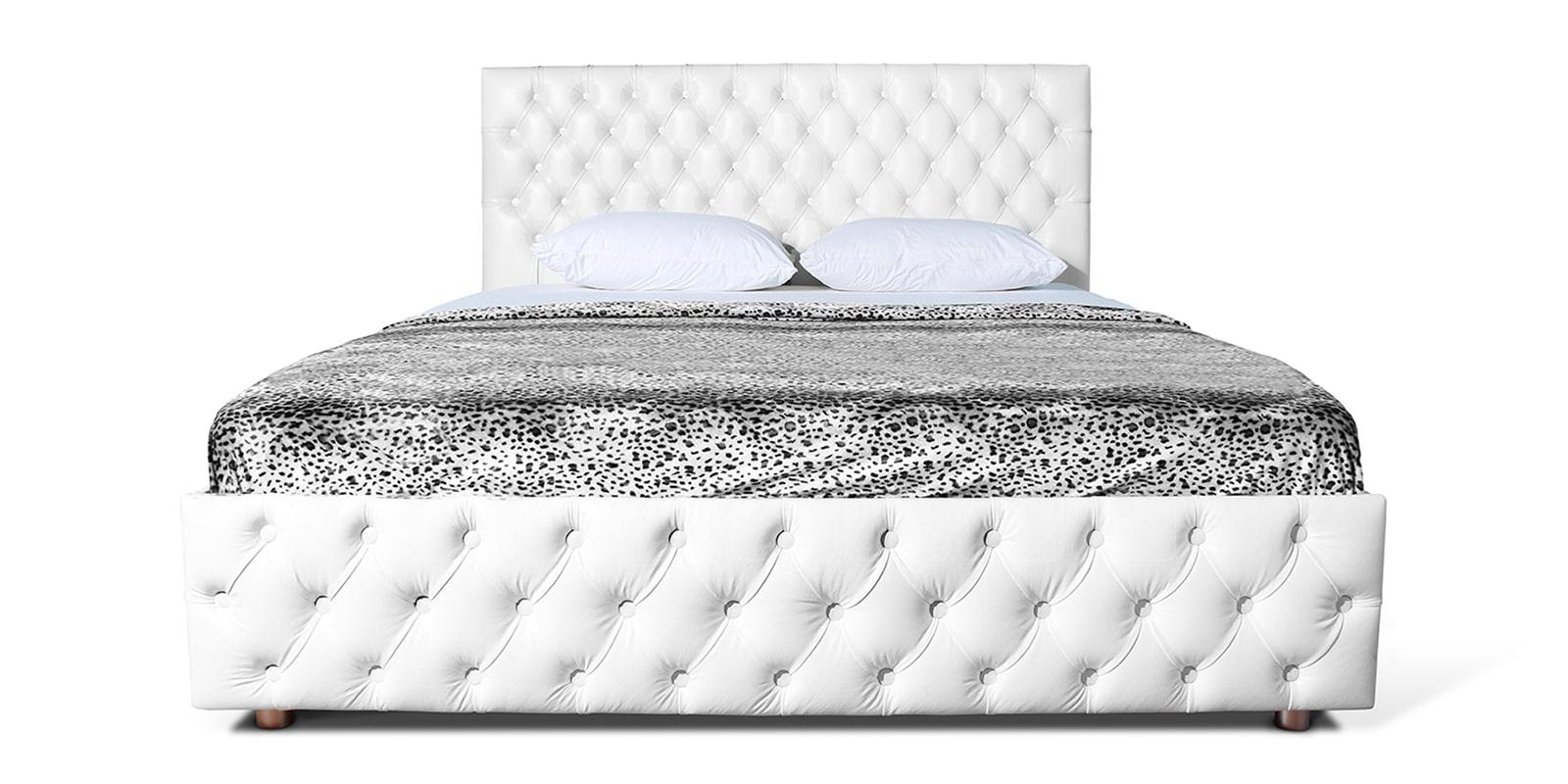 Мягкая кровать Малибу 160см экокожа белого цвета вариант 4 фото 2   интернет-магазин Складно