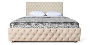 Мягкая кровать Малибу 160см экокожа бежевого цвета вариант 4-2 22490 рублей, фото 2 | интернет-магазин Складно