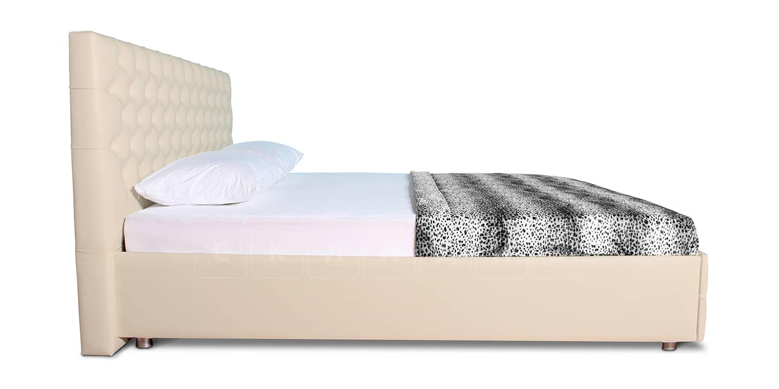 Мягкая кровать Малибу 160см экокожа бежевого цвета вариант 4-2 фото 4 | интернет-магазин Складно