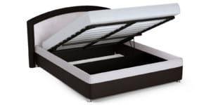 Мягкая кровать Малибу 160см экокожа белый-шоколад вариант 8 23990 рублей, фото 5   интернет-магазин Складно