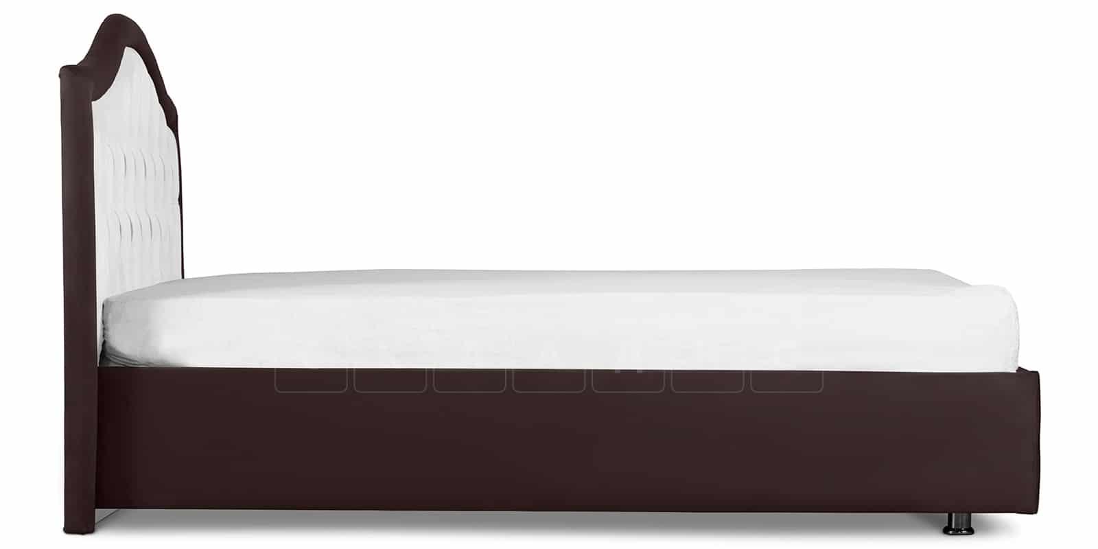 Мягкая кровать Малибу 160см экокожа белый-шоколад вариант 9-2 фото 3 | интернет-магазин Складно