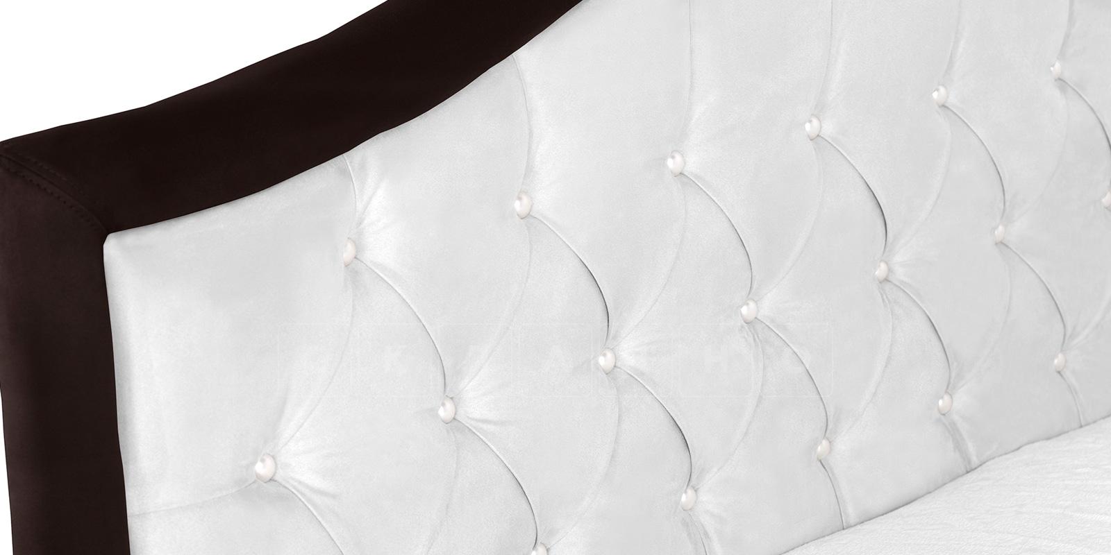 Мягкая кровать Малибу 160см экокожа белый-шоколад вариант 9-2 фото 5 | интернет-магазин Складно