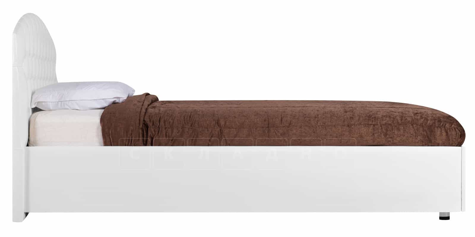 Мягкая кровать Малибу 160см экокожа белого цвета вариант 1-2 фото 3 | интернет-магазин Складно
