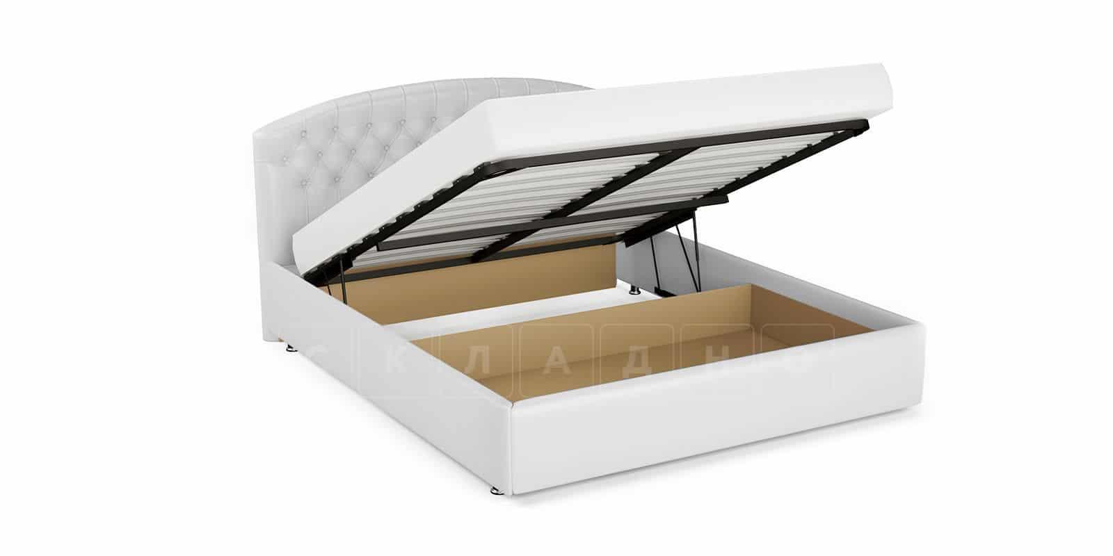 Мягкая кровать Малибу 160см экокожа белого цвета вариант 1 фото 6   интернет-магазин Складно