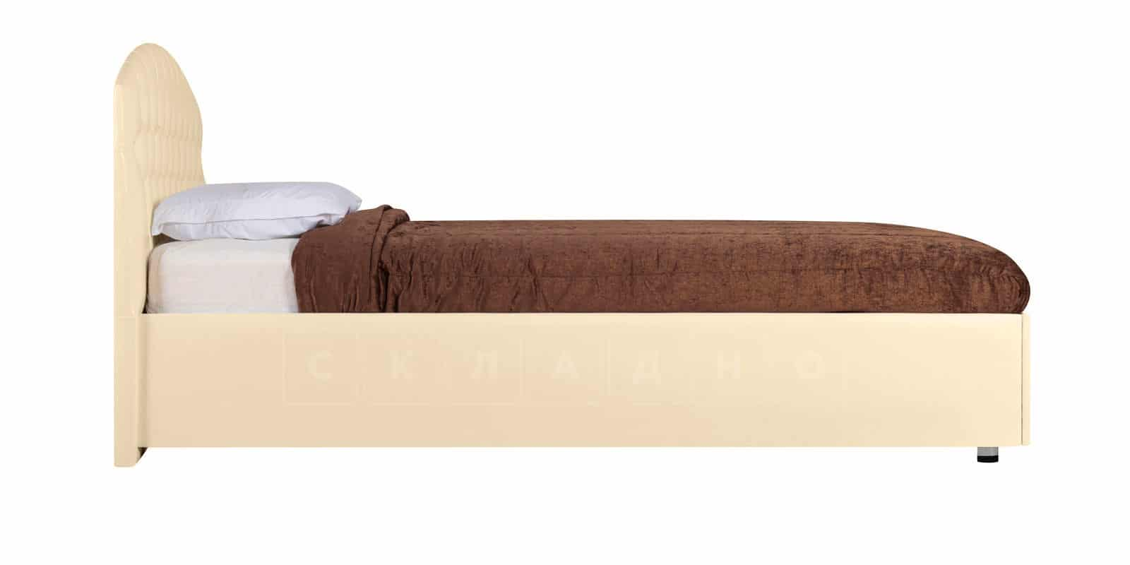 Мягкая кровать Малибу 160см экокожа бежевого цвета вариант 1-2 фото 4 | интернет-магазин Складно