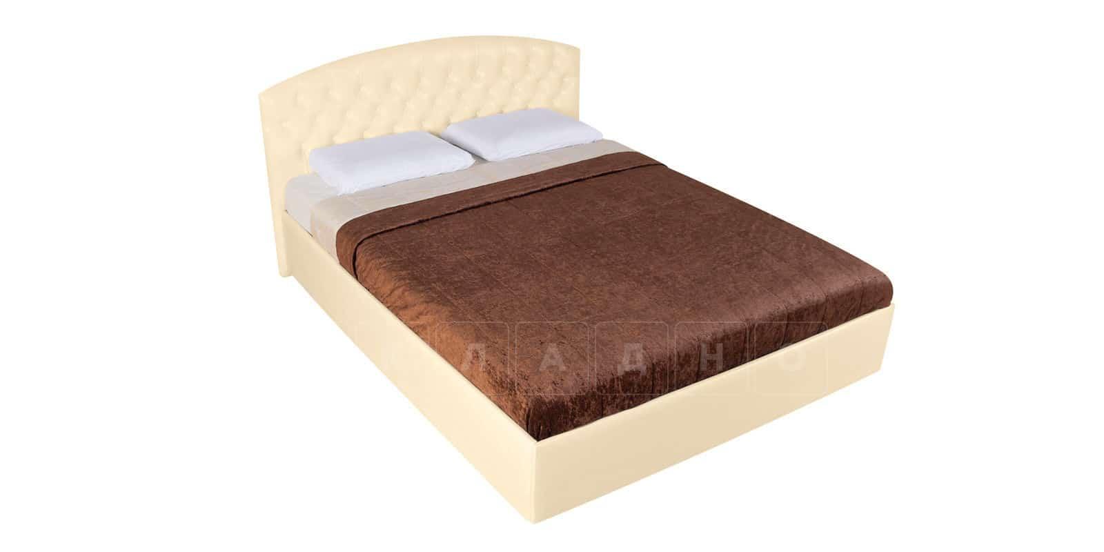 Мягкая кровать Малибу 160см экокожа бежевого цвета вариант 1-2 фото 5 | интернет-магазин Складно