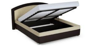 Мягкая кровать Малибу 160см экокожа бежевый-шоколад вариант 8 28990 рублей, фото 5   интернет-магазин Складно
