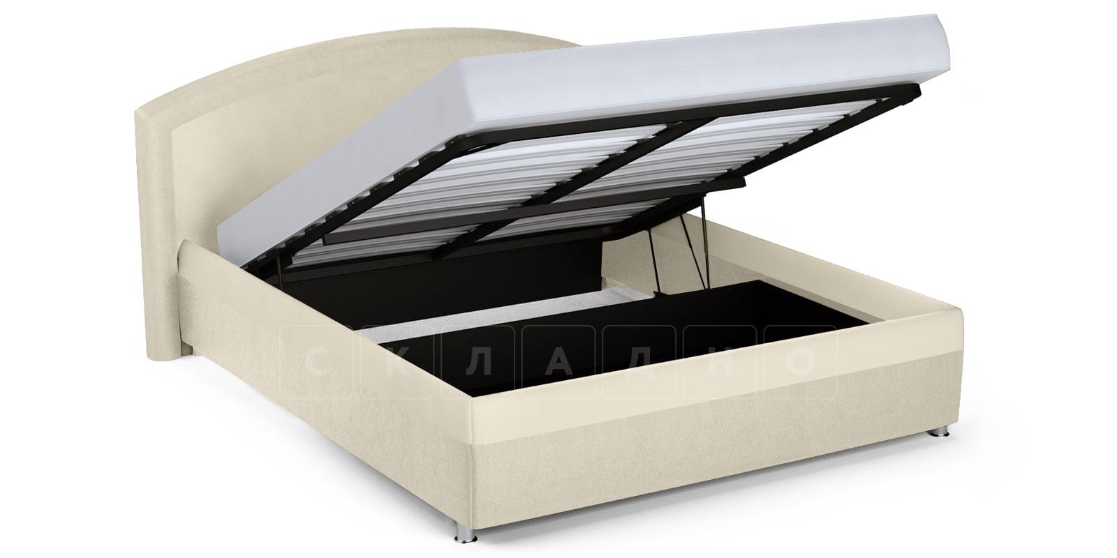 Мягкая кровать Малибу 160см экокожа бежевый вариант 8 фото 5 | интернет-магазин Складно