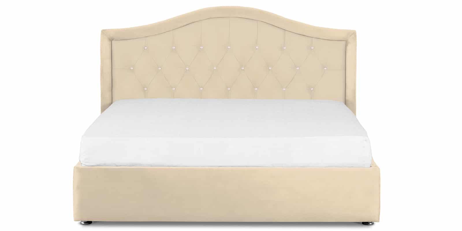 Мягкая кровать Малибу 160см экокожа бежевый вариант 9-2 фото 2 | интернет-магазин Складно