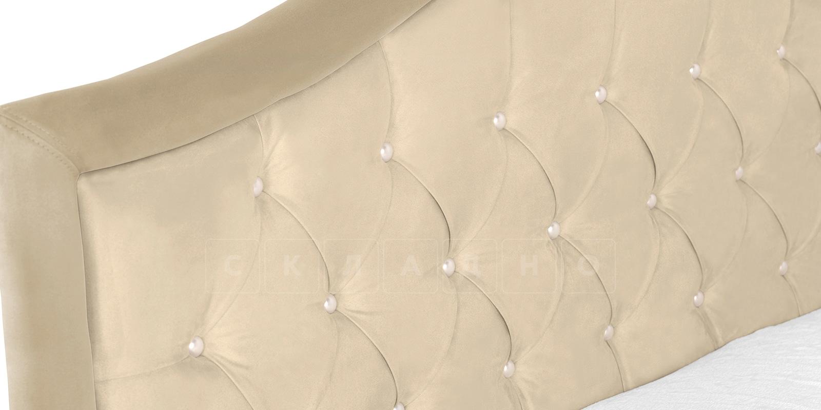 Мягкая кровать Малибу 160см экокожа бежевый вариант 9-2 фото 4 | интернет-магазин Складно