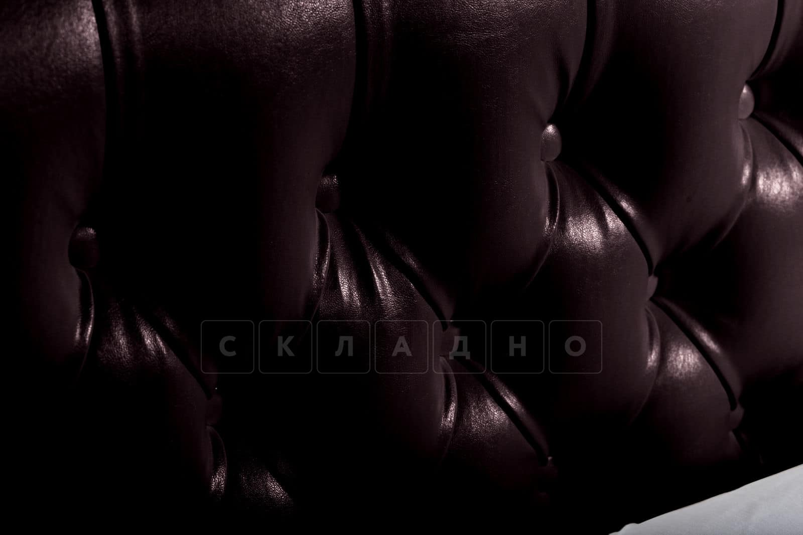 Мягкая кровать Малибу 160см экокожа шоколадного цвета вариант 1-2 фото 9 | интернет-магазин Складно