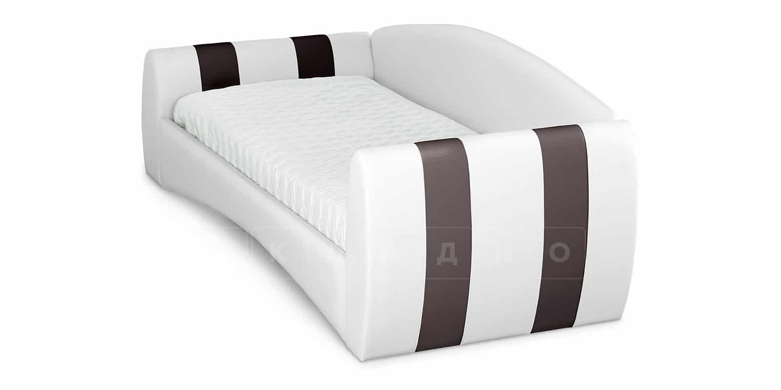 Мягкая кровать Монако 90х190см белого цвета правая фото 4 | интернет-магазин Складно