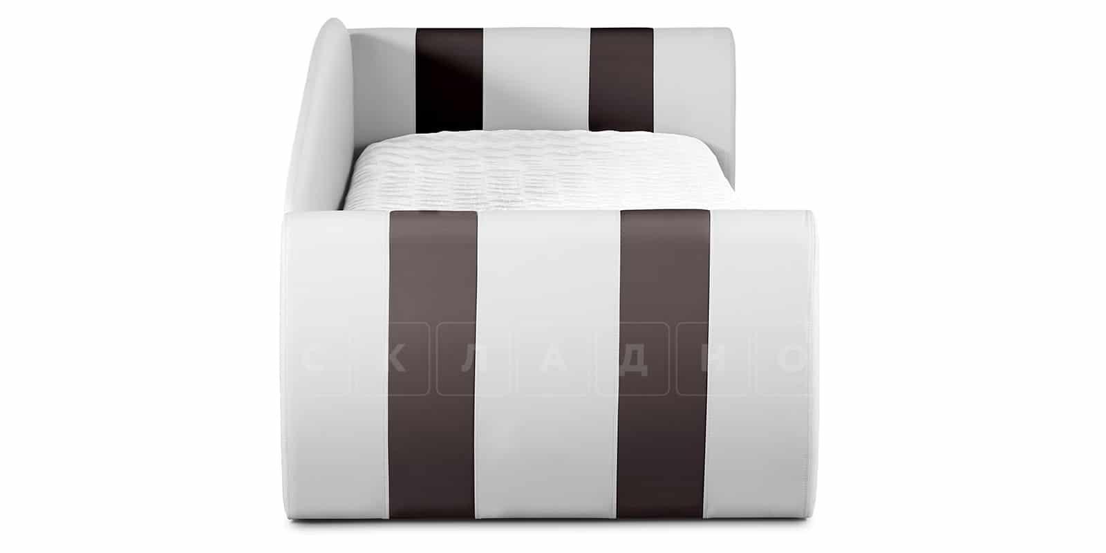 Мягкая кровать Монако 90х190см белого цвета правая фото 5 | интернет-магазин Складно