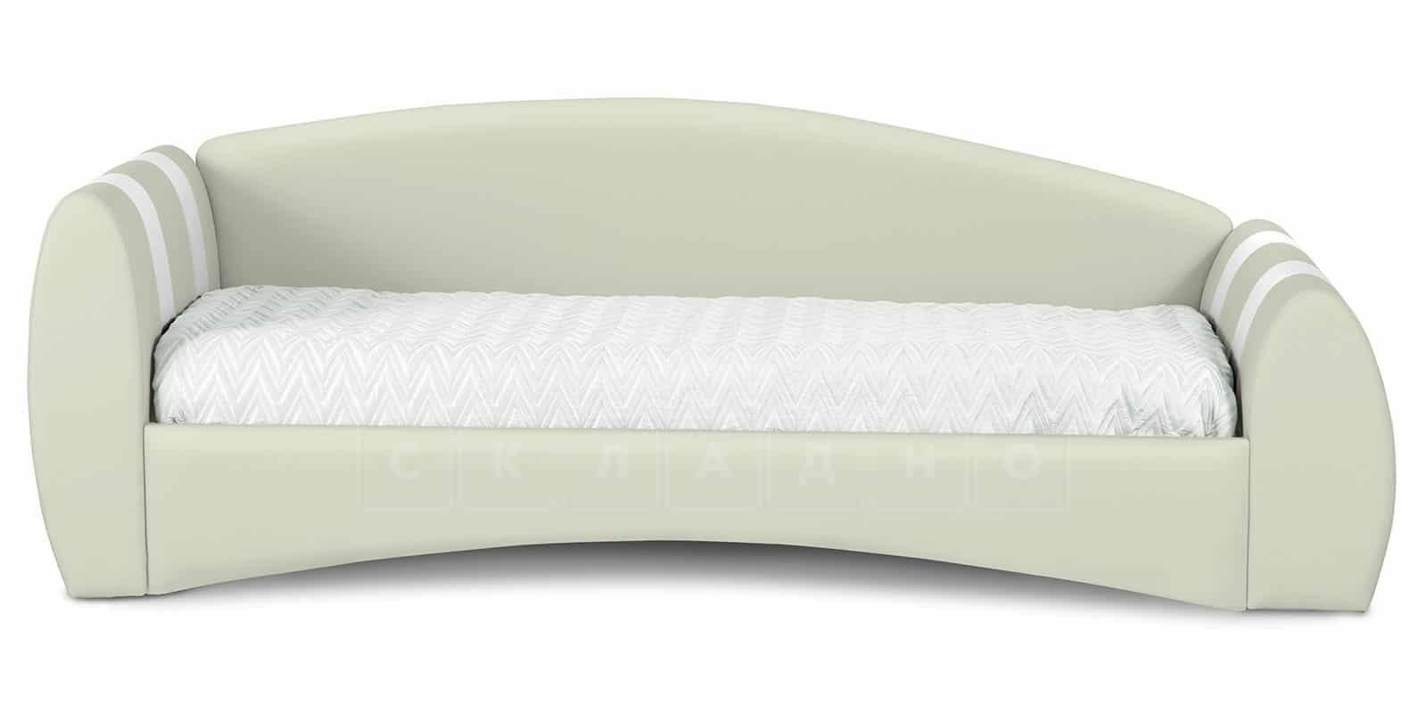 Мягкая кровать Монако 90х190см молочного цвета левая фото 3 | интернет-магазин Складно